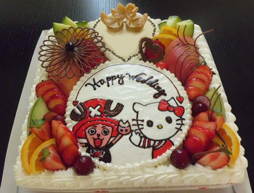 キティちゃん・チョッパーウエディングケーキ